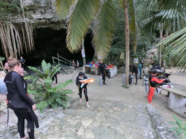 """2 Wochen Riviera Maya & Insel Cozumel, Mexiko, Meinen letzten Tauchgang unternehme ich dann bei den """"Dos Ojos"""" - den"""