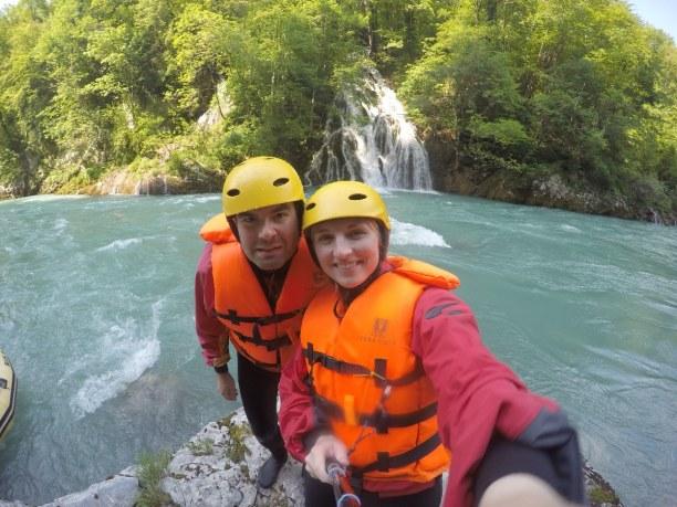 1 Woche Montenegro, Montenegro, Selfie Time bei einem kurzen Stop beim Rafting
