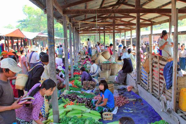 Kurztrip Nyaungshwe (Stadt), Myanmar, Myanmar, Markt in Nyaungshwe