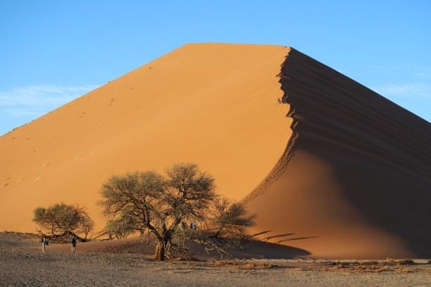 Kurztrip Namibia, Namibia, Frühmorgens strahlen die Sanddünen der ältesten Wüste der Welt bes
