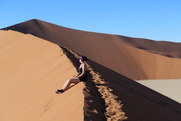 """Kurztrip Namibia, Namibia, Aufstieg Richtung einer der höchsten Dünen der Welt (""""Big Daddy"""" / """""""