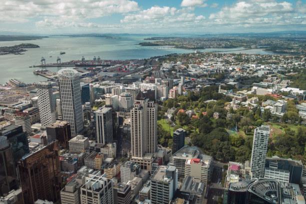 Eine Woche Nordinsel, Neuseeland, Eine großartige Aussicht über Auckland hat man ebenfalls vom Sky Tow