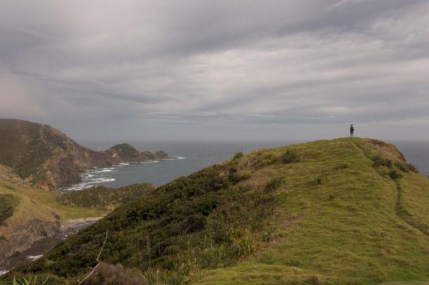 Eine Woche Nordinsel, Neuseeland, Vom DOC Campingplatz am Cape Reinga führt ein wunderschöner Wanderwe