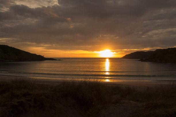 Eine Woche Nordinsel, Neuseeland, Sonnenaufgang in der Maitai Bay. Man merkt deutlich, dass im April ber