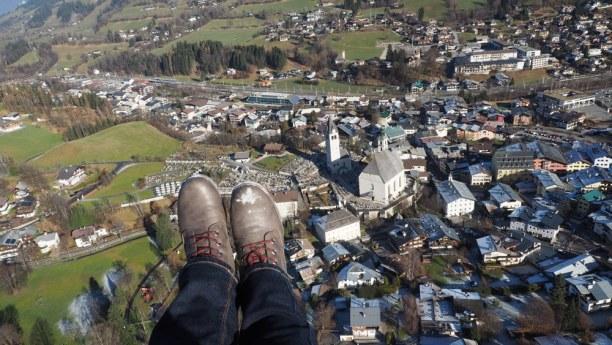 Kurztrip Kitzbühel (Stadt), Nordtirol, Österreich, Kitz von oben!