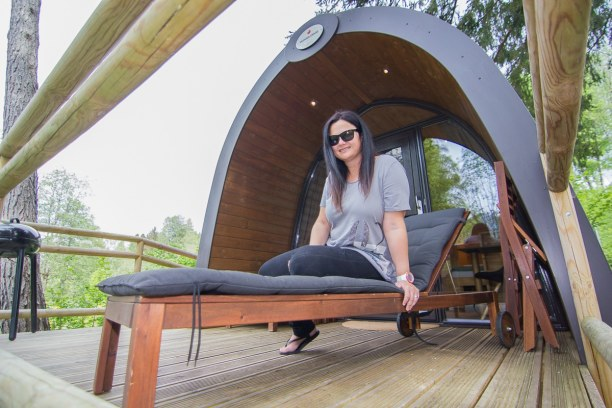 Kurztrip Natters (Stadt), Nordtirol, Österreich, Am Campingplatz Natterer See haben wir unser kleines und gemütliches