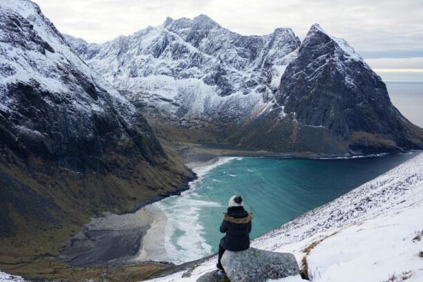 10 Tage Lofoten & Vesterålen, Norwegen, Der Strand von Kavalvika ist eines der spektakulärsten Fotomotive auf