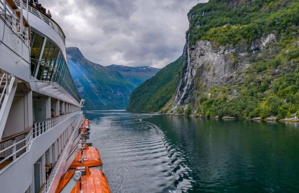 1 Woche Nordnorwegen, Norwegen, Fahrt durch den Geirangerfjord