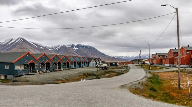 Langzeiturlaub Spitzbergen, Norwegen, Wohnhäuser von Longyearbyen