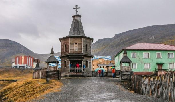 Langzeiturlaub Spitzbergen, Norwegen, Die russisch-orthodoxe Kirche von Barentsburg... auch hier steht schon
