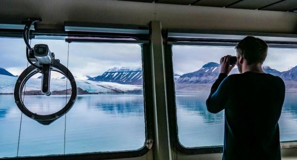 Langzeiturlaub Spitzbergen, Norwegen, Eisbär-Sichtung auf dem Weg nach Barentsburg! Wir hatten Glück und d