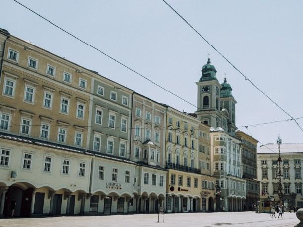 Kurztrip Linz (Stadt), Oberösterreich, Österreich, Wunderschöne Altstadtfassaden