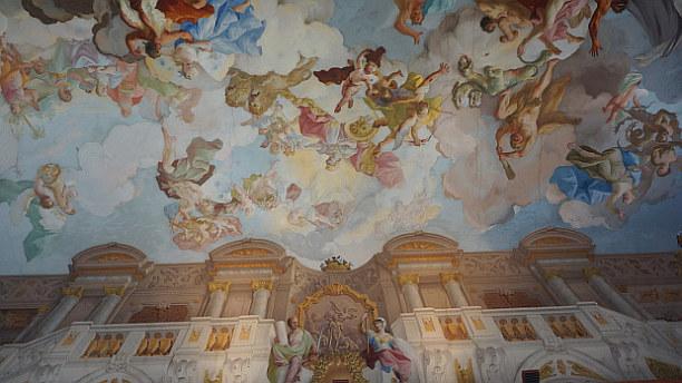 Langzeiturlaub Niederösterreich, Österreich, Zahlreiche Decken sind voller Fresken. Melk gilt als schönstes Barock