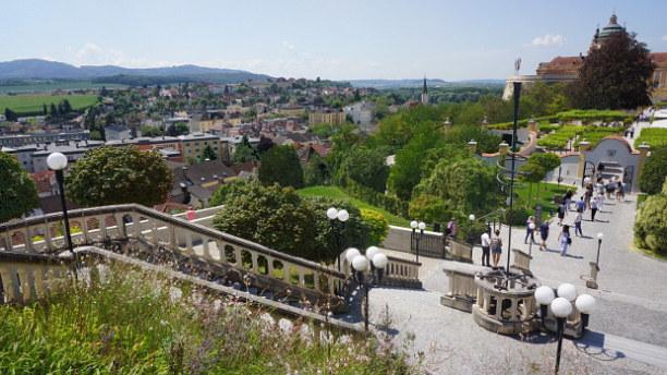 Langzeiturlaub Niederösterreich, Österreich, Hoch über der österreichischen Donau gelegen, das Benediktiner Stift