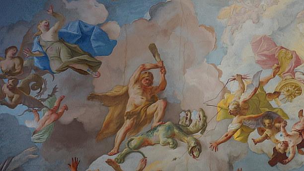 Langzeiturlaub Niederösterreich, Österreich, Die Szenen der Deckenfresken waren Bestandteile der Bildung der Benedi