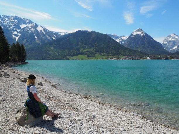 Kurzurlaub Nordtirol, Österreich, Und natürlich musste das Dirndl auch gleich ausgepackt und angezogen