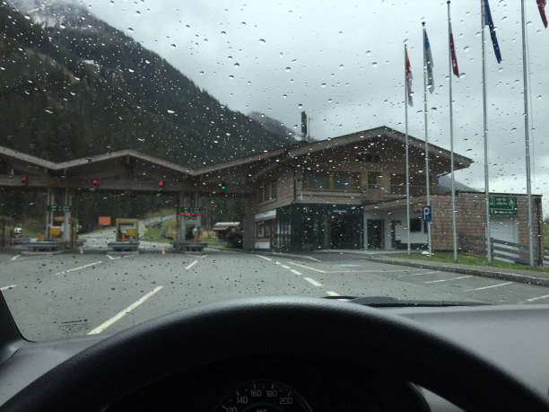 Kurztrip Salzburger Land, Österreich, Manchmal hilft der Jausenstopp - und manchmal nicht. Bei der Mautstell