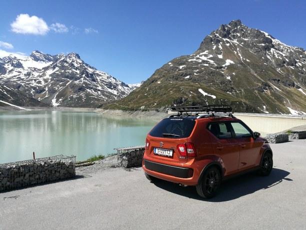 Kurzurlaub Tirol, Österreich, Der Silvretta Stausee auf über 2.000 Metern Seehöhe auf der Bieler H