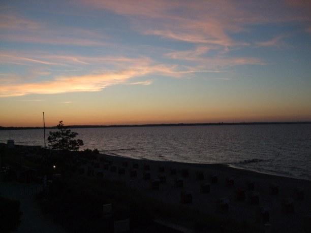 Zwei Wochen Niendorf (Stadt), Ostseeküste, Deutschland, Sonnenuntergang