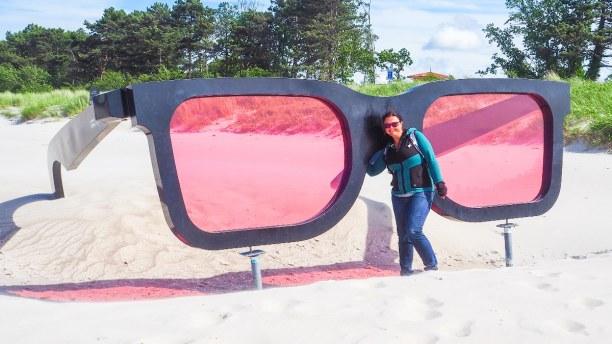 Kurztrip Warnemünde (Stadt), Ostseeküste, Deutschland, Blick durch die rosarote Brille...