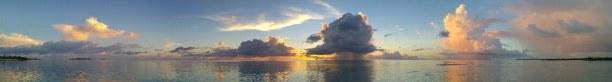 Kurztrip Palauinseln, Palauinseln, Sonnenuntergang - in der Nacht regnete es dann ein wenig