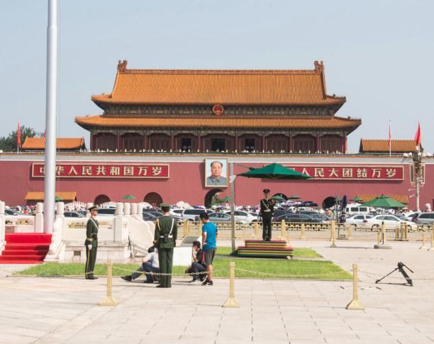 1 Woche Peking (Stadt), Peking und Umgebung, China, Das bekannteste Gebäude am Platz ist die Verbotene Stadt.