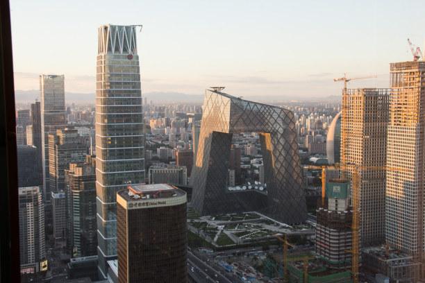 """Eine Woche Peking (Stadt), Peking und Umgebung, China, Ein perfekter Platz für einen """"Sundowner"""" mit Blick auf die spektakul"""