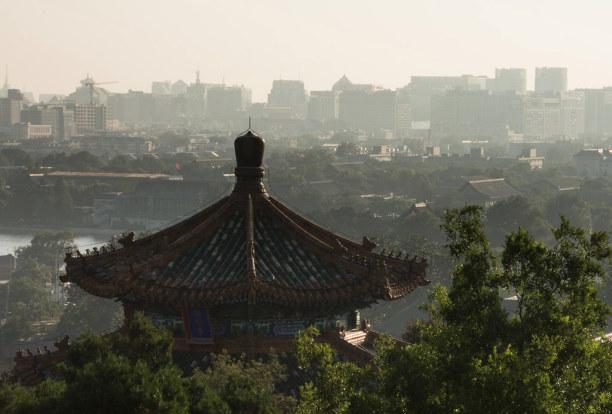 Eine Woche Peking (Stadt), Peking und Umgebung, China, Leider verhindern Dunst und Smog manchmal den Weitblick.