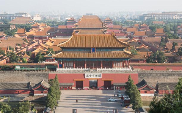 1 Woche Peking (Stadt), Peking und Umgebung, China, Vom Jingshan Park hat man einen tollen Blick über die Verbotene Stadt