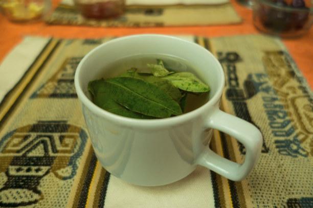 Langzeiturlaub Peru, Peru, Tee aus Koka-Blättern gegen die Höhe gibt es überall in Peru. Ob es