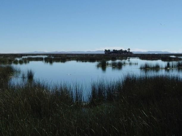 2 Wochen Peru, Peru, Der Blick über den Titicaca-See. Er ist der höchstgelegene schiffbar