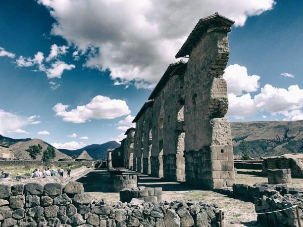 """Zwei Wochen Peru, Peru, Die Inka Ruinen von Raqchi """"Temple Wiracocha"""""""