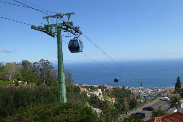 Eine Woche Madeira, Portugal, Mit der Seilbahn geht es zum Monte