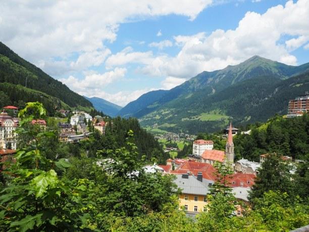 Kurzurlaub Bad Gastein (Stadt), Salzburger Land, Österreich, Blick über Bad Gastein