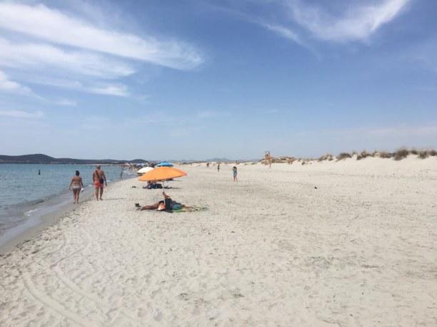 Drei Wochen Santa Margherita di Pula (Stadt), Sardinien, Italien, Strand von Chia - sehr unberührt