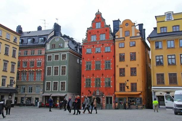 Kurztrip Stockholm & Umgebung, Schweden, Gamla Stan ist die Altstadt von Stockholm im Bezirk Södermalm. Die bu