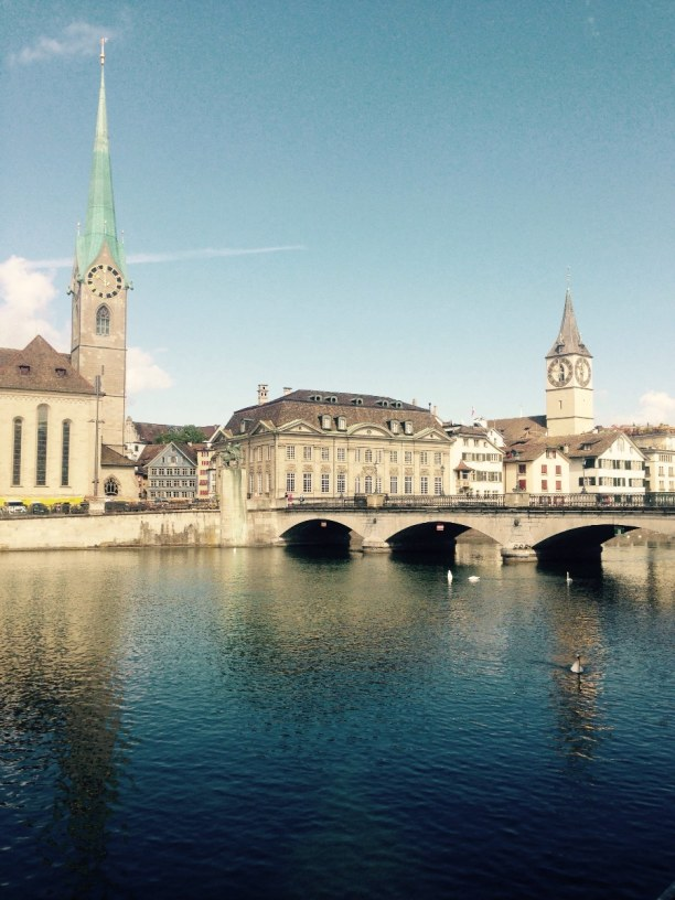 Kurztrip Kanton Zürich, Schweiz, Das Fraumünster ist eine ehemalige Klosterkirche. Sie ist eines der W