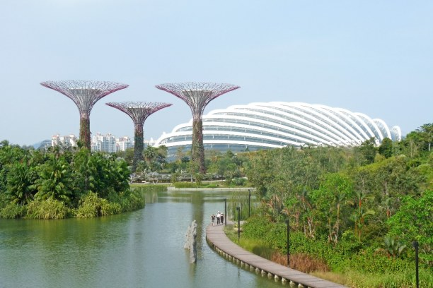 Kurztrip Singapur, Singapur, Die Gardens by the Bay ist ein 101 Hektar großes Parkgelände, welche