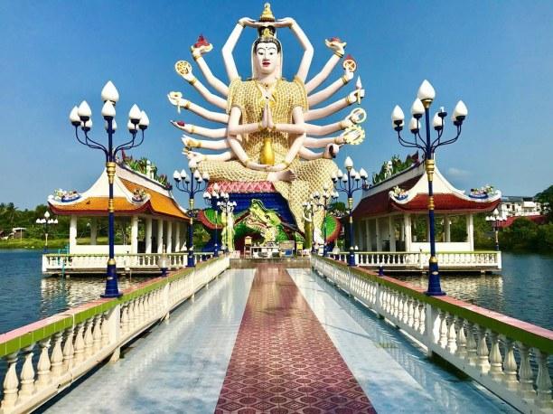 Zwei Wochen Singapur, Singapur, #buddha #18 #Arme #Fähigkeiten #fischefüttern #kohsamui #bigbuddha #