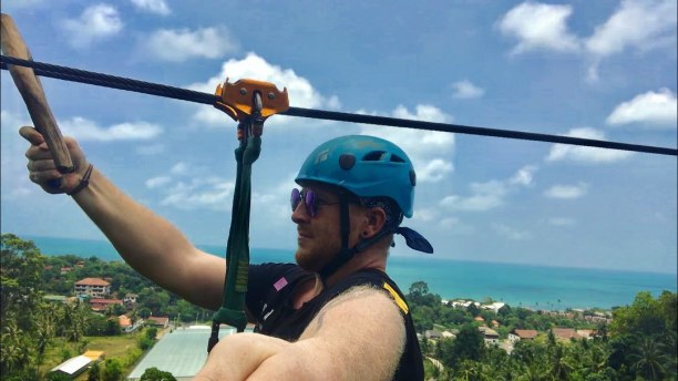Zwei Wochen Singapur, Singapur, #lamaibeach #cableride #zipline #over #the #jungle #great #view #sea #