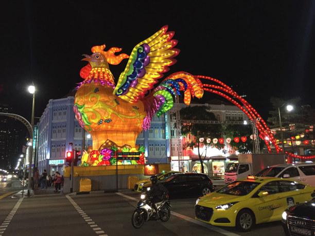 """Kurztrip Singapur (Stadt), Singapur, Singapur, Von der chinesischen Bevölkerung wird gerade """"Chinese New Year"""" gefei"""