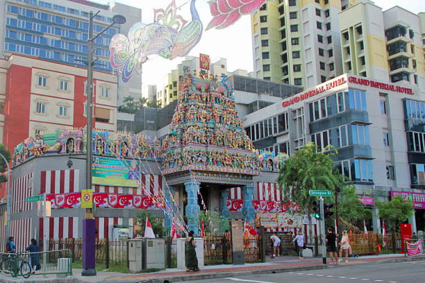 Kurztrip Singapur, Singapur, Sri Mariamman Tempel in Little India