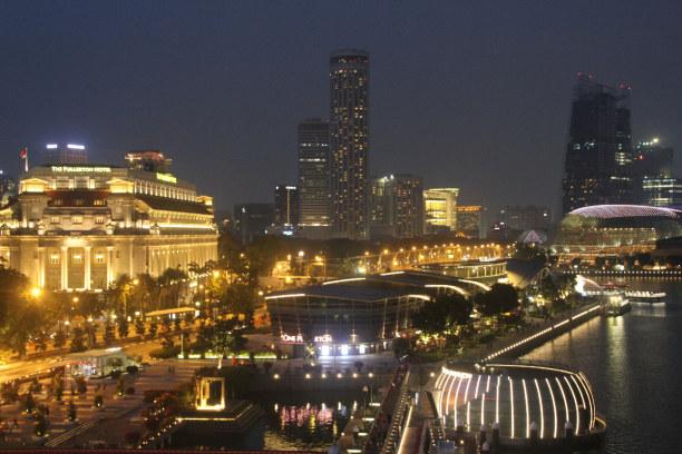 Kurztrip Singapur, Singapur, Singapur bei Nacht