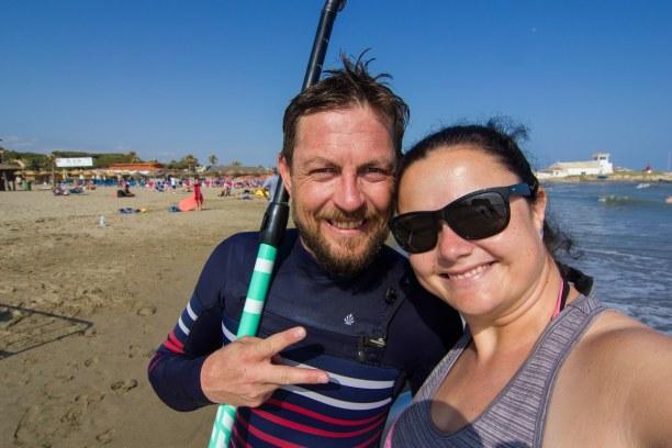 1 Woche Andalusien, Spanien, Am nächsten Tag hat es uns zum Strand gezogen. Das Wasser an der Cost