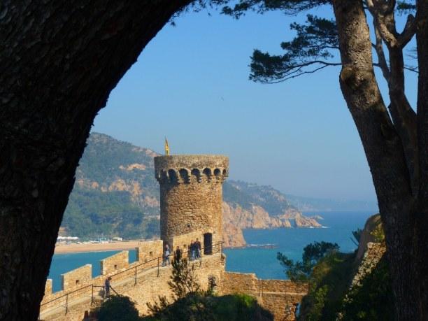 Eine Woche Costa Brava, Spanien, Das mittelalterliche Städtchen Tossa  liegt im südlichen Teil Katala