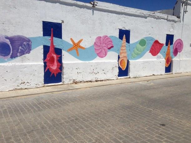 Zwei Wochen Costa de la Luz, Spanien, Wandmalerei