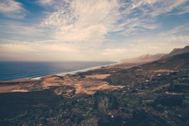 Eine Woche Fuerteventura, Spanien, Cofete besitzt einen der schönsten Strände der Insel. Da das Meer do