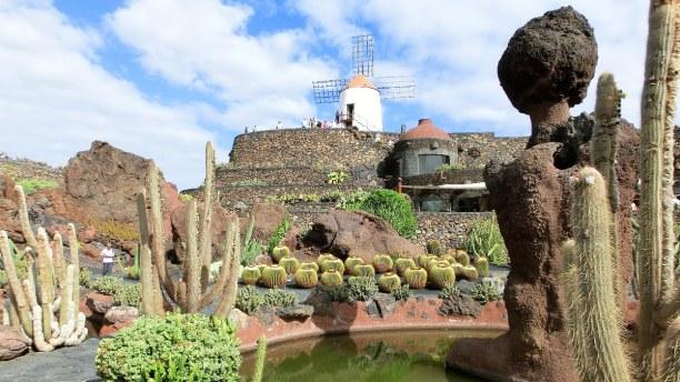 1 Woche Lanzarote, Spanien, Der Jardín de Cactus wurde von dem Naturarchitekten und Umweltschütz