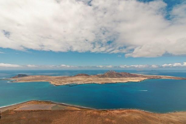 Eine Woche Lanzarote, Spanien, La Graciosa ist eine kleine Insel vor Lanzarote und die kleinste der k