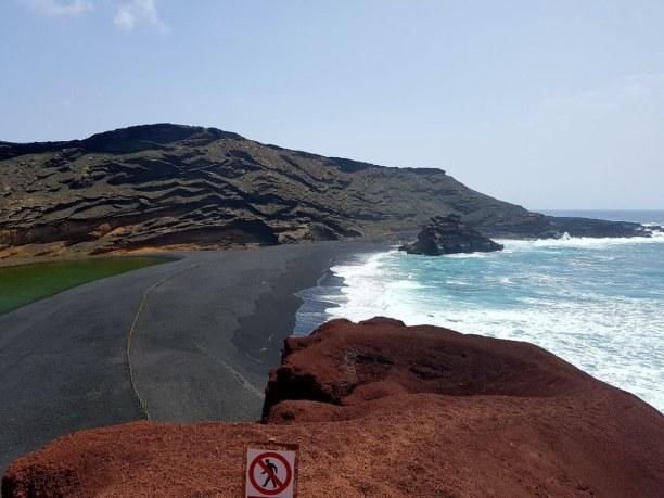 Eine Woche Lanzarote, Spanien, Der schwarze Strand bei El Golfo
